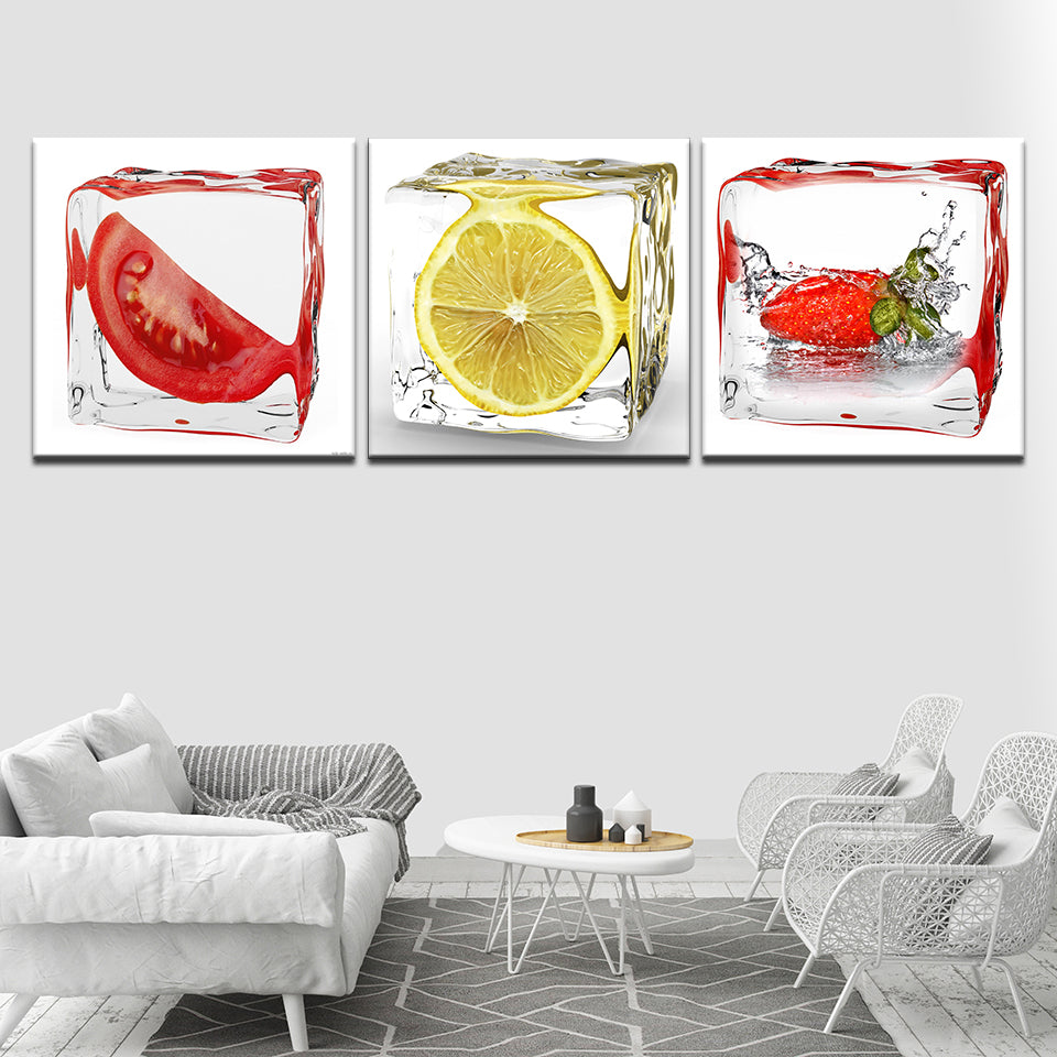 Lemon Coffee Canvas Wall Art Print For Cafe and Kitchen Decor