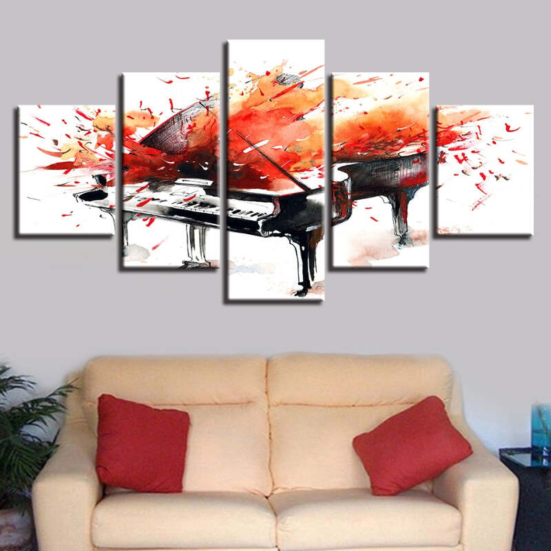 Details About Piano Splash Canvas Wall Art Decor Of Creative And Modern Art