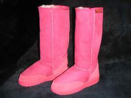 Long Premium Ugg Boot (Fushia Pink)