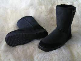 Short Premium Ugg Boot (Black)