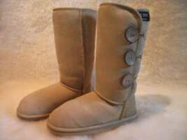 Classic Long Button Ugg Boot (Sand)