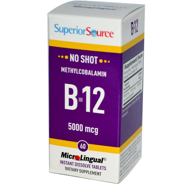 Methylcobalamin B12, 5000 mcg, 60 Tablets