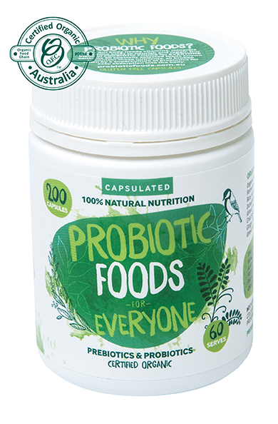 Probiotic Foods  for Everyone Capsules 200 caps  [ 100 serves ]