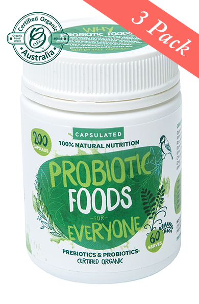 Probiotic Foods for Everyone Capsules 200 caps x 3 ( 300 serves )
