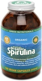 Green Nutritionals Organic Mountain Spirulina 180 Capsules 520mg
