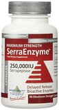 Serrapeptase Enzyme  250,000IU x 90 Caps 1 bottle