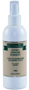 Nutracel Natural Deodorant 200ml Pump Spray Bottle