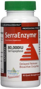 Serrapeptase Enzyme 90 Caps 80,000IU x 2 bottles - same postage  as 1 - Normally $80.00 - On Special