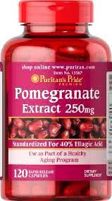 Pomegranate Extract 250g x 120 capsules x 1 bottle