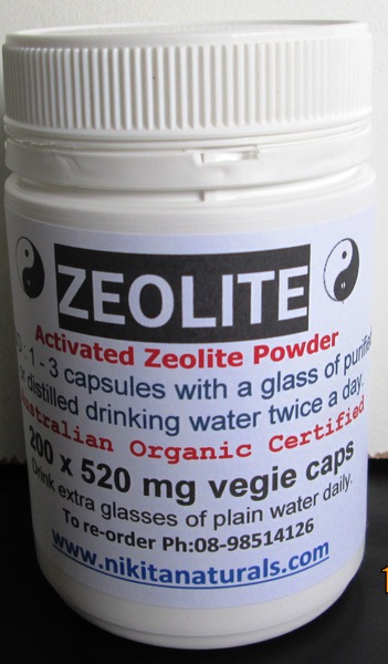 "Zeolite Capsules - ""Activated"" powder in vegie caps 520mg x  200 - postage included AU ONLY"