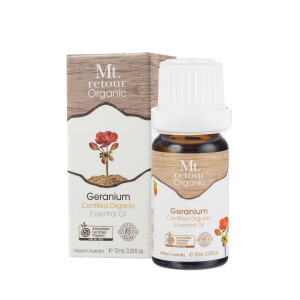 Geranium (certified organic) Pure Essential Oil 10ml