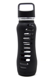 "Eco Water Bottle ""Recycled Glass"" with Loop Lid - 650ml - Black"