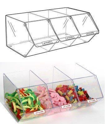 PM9715 x 200mm Pick /& Mix Dispenser for Unwrapped Sweets: Slat Fix 495mm W