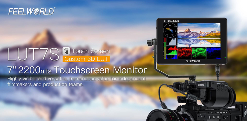 FeelWorld LUT7S 7inch 3D LUT 4K HDMI and SDI Monitor - Image1