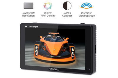 FeelWorld LUT6S 6inch 4K HDMI/3G-SDI Touchscreen Monitor  - Image2