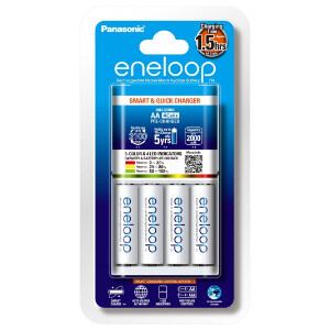 Eneloop 2 Hour Quick Charger + 4x AA Batteries