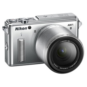 Nikon 1 AW1 Waterproof Compact + AF 11-27.5mm Lens - Silver