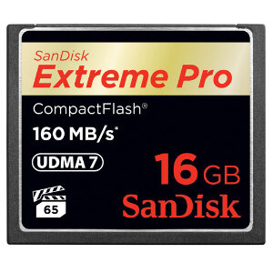 SanDisk Compact Flash Extreme Pro 16GB - 160mb/s