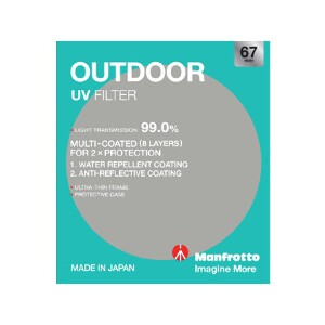 Manfrotto Outdoor UV Filter - 67mm