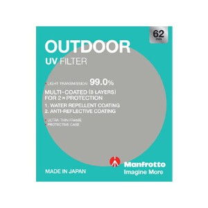 Manfrotto Outdoor UV Filter - 62mm