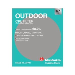 Manfrotto Outdoor Circular Polarising Filter - 67mm