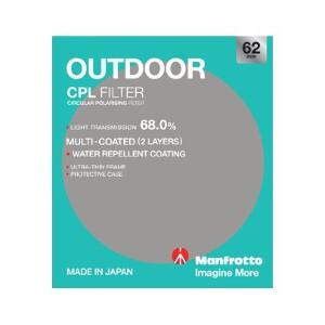 Manfrotto Outdoor Circular Polarising Filter - 62mm