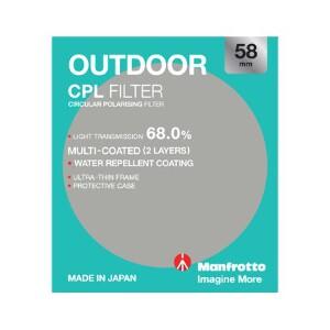 Manfrotto Outdoor Circular Polarising Filter - 58mm