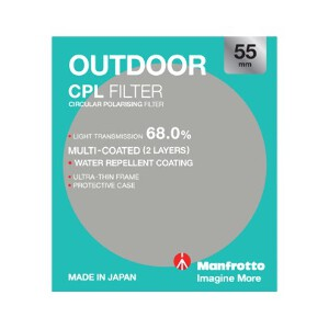 Manfrotto Outdoor Circular Polarising Filter - 55mm
