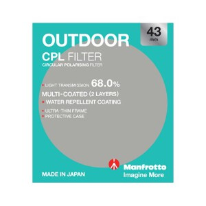 Manfrotto Outdoor Circular Polarising Filter - 43mm
