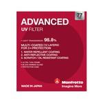 Manfrotto Advanced UV Filter - 77mm
