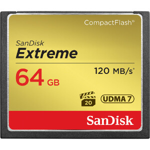 SanDisk Extreme Compact Flash 64GB – 120MB/s