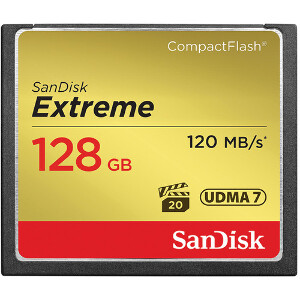 SanDisk Extreme Compact Flash 128GB – 120MB/s