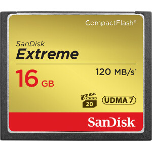 SanDisk Extreme Compact Flash 16GB – 120MB/s