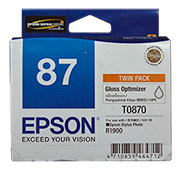 Epson R1900 Gloss Optimiser Cartridge - Twin Pack