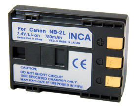 Inca Rechargeable Li-Ion Battery Canon NB-2L