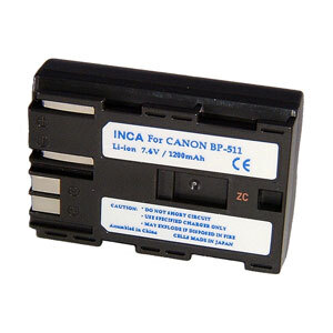 Inca Rechargeable Li-Ion Battery Canon BP-511