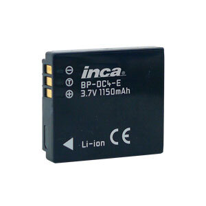 Inca Rechargeable Li-Ion Battery Panasonic NP-70, BP-DC4, CGA-S005, D-Li106, DB-60, DB-65