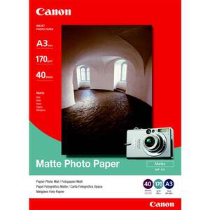 Canon Matte Photo Paper A3 - 40pk #MP-101A3
