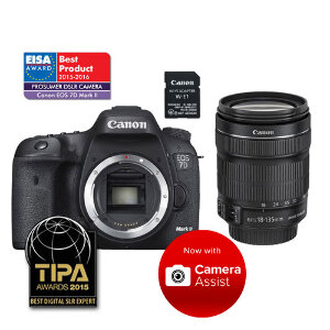 Canon EOS 7D II DSLR + Wi-Fi Adapter + 18-135mm IS STM Lens - Super Kit