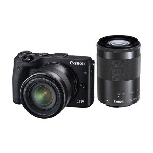 Canon EOS M3 + EF-M 18-55mm + 55-200mm IS STM Lens