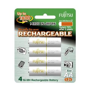 Fujitsu AA Rechargeable 1900 mAh Battery – 4 Pack