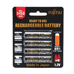 Fujitsu AA Rechargeable 2450 mAh Battery – 4 Pack