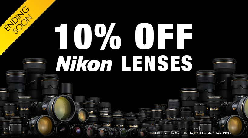 10% Off Nikon Lenses