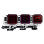 Polar Pro Aqua Filter 3 Pack for GoPro Standard Housing