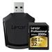 Lexar Professional 2000x SDHC Memory Card - 32GB w/ Card Reader