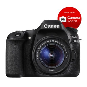 Canon EOS 80D DSLR + 18-55mm f/3.5-5.6 IS STM Lens