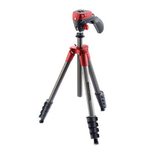 Manfrotto Compact Action Tripod + Joystick Head - Red Colour