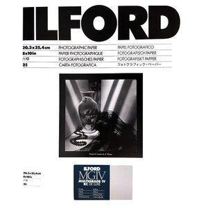 Ilford Multigrade IV RC Deluxe MGD.44M Black & White Variable Contrast Paper Pearl - 8x10 inch - 25 Sheets