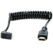 Atomos Right-Angle Micro to Full HDMI Coiled Cable 30cm-45cm