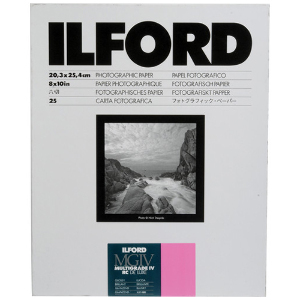 Ilford Multigrade IV RC Deluxe MGD.1M Black & White Variable Contrast Paper Glossy - 8x10 inch - 25 Sheets + Bonus 5 Sheets